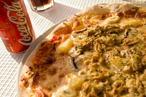 Pizza e Coca-cola
