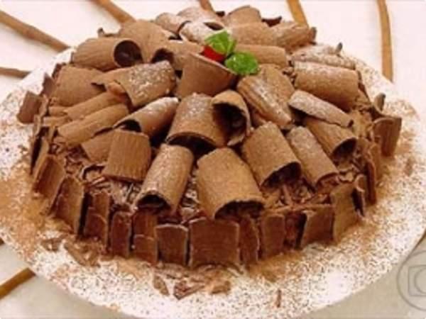 Torta de Chocolate com Bolacha Maizena